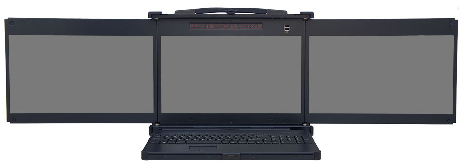 Portable Laptop Screen : Pmk portable three screen display with ruggedized