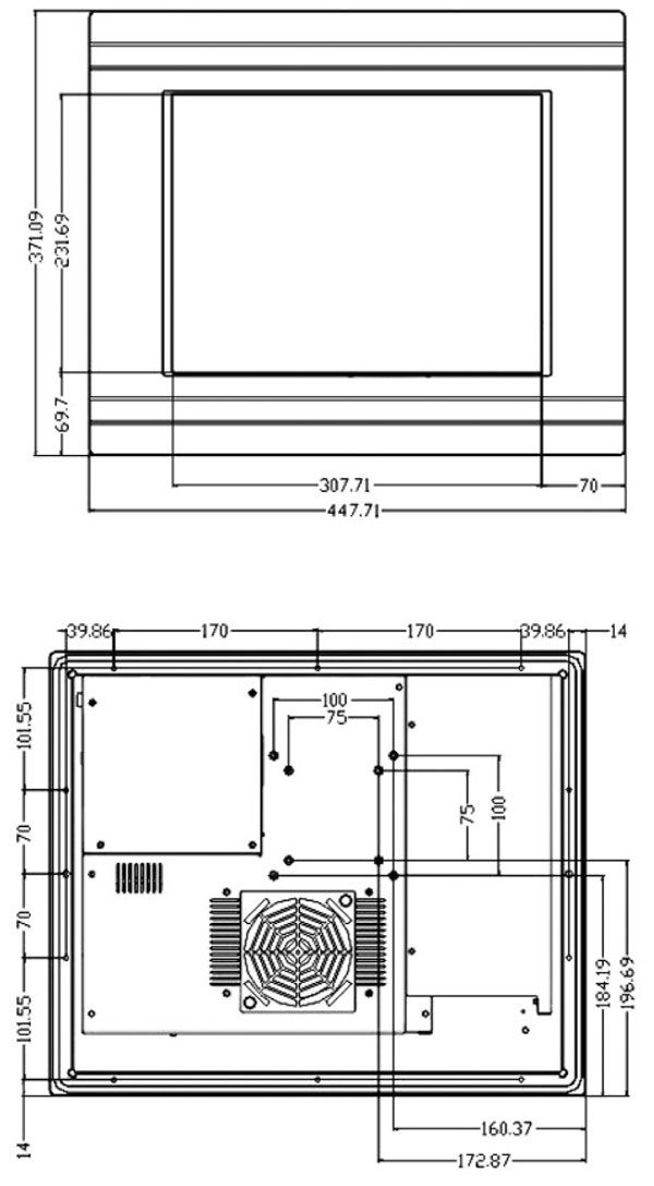 Panel Saw Drawing Open Frame Panel pc Ppc-100