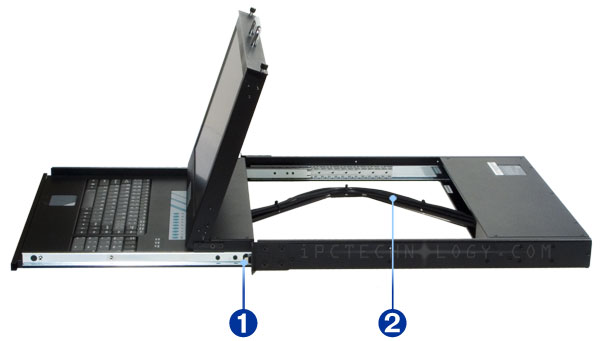 Widescreen Lcd Rack Mount Kvm Console With 8 Port Kvm