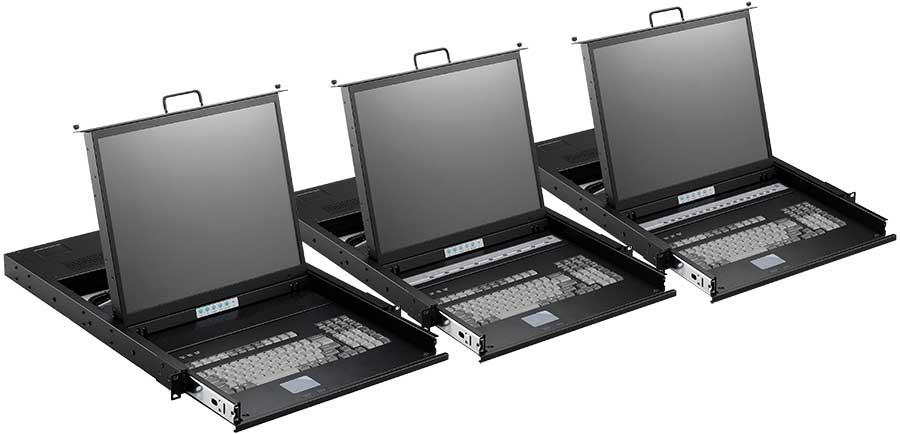 Smk 900 Series 1u Rack Mount Kvm Console Monitor Keyboard